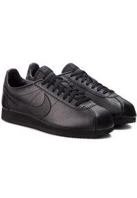 Czarne buty sportowe Nike z cholewką, na co dzień, Nike Cortez