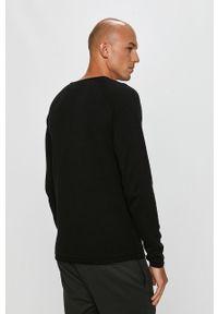 Czarny sweter PRODUKT by Jack & Jones na co dzień, casualowy, długi, z okrągłym kołnierzem