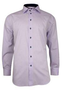 Fioletowa elegancka koszula Rey Jay długa, z długim rękawem