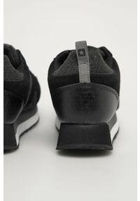 Czarne buty sportowe Big-Star z cholewką, z okrągłym noskiem, na sznurówki