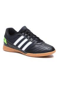 Adidas - Buty adidas - Super Sala J FV5457 Cblack/Ftwwht/Sgreen. Okazja: na uczelnię, na spacer. Kolor: czarny. Materiał: skóra, materiał. Szerokość cholewki: normalna. Sport: turystyka piesza