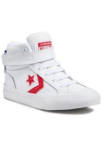 Białe półbuty Converse z cholewką, na rzepy