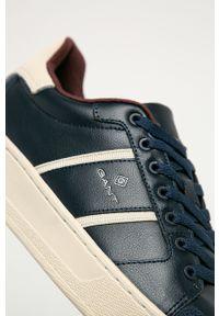 Niebieskie sneakersy GANT z cholewką, z okrągłym noskiem, na sznurówki