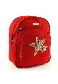 Czerwony plecak Hollywood młodzieżowy
