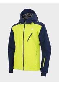 4f - Kurtka narciarska męska. Kolor: niebieski. Materiał: mesh, materiał. Technologia: Dermizax. Sezon: zima. Sport: narciarstwo