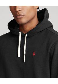 Ralph Lauren - RALPH LAUREN - Czarna bluza z kapturem. Typ kołnierza: kaptur. Kolor: czarny. Materiał: bawełna. Długość rękawa: długi rękaw. Długość: długie. Wzór: haft. Styl: elegancki