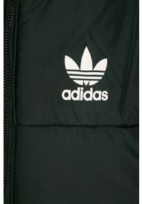 Czarna kurtka adidas Originals z kapturem, na co dzień
