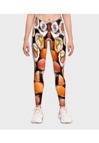 MegaKoszulki - Legginsy damskie fullprint Sushi z bliska. Okazja: na co dzień. Wzór: nadruk. Sezon: lato. Styl: casual