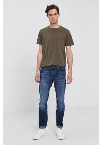 Pepe Jeans - T-shirt RAMON. Okazja: na co dzień. Kolor: zielony. Wzór: nadruk. Styl: casual