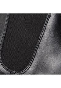 Czarne buty zimowe Togoshi casualowe, z cholewką, na co dzień