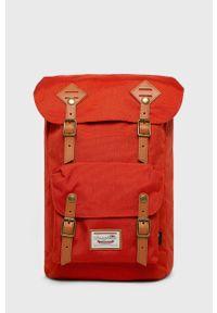 Czerwony plecak Doughnut vintage, w paski