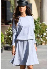 Lemoniade - Bawełniana sukienka z guziczkami z tyłu. Materiał: bawełna. Sezon: jesień