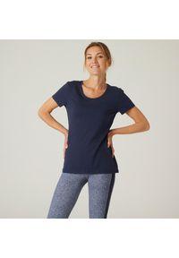 NYAMBA - Koszulka z krótkim rękawem damska Nyamba Gym & Pilates. Materiał: lyocell, bawełna, materiał, elastan, poliester. Długość rękawa: krótki rękaw. Długość: krótkie. Sport: joga i pilates