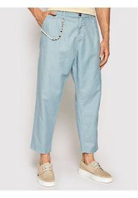 Imperial Spodnie materiałowe PD2KBLF5KU Zielony Relaxed Fit. Kolor: niebieski. Materiał: materiał