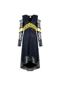 """Pinko Sukienka """"Istruito"""". Materiał: tkanina, koronka. Długość rękawa: długi rękaw. Typ sukienki: dopasowane, asymetryczne"""