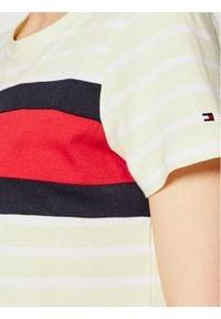 TOMMY HILFIGER - Tommy Hilfiger T-Shirt Abo Flag WW0WW32439 Żółty Regular Fit. Kolor: żółty