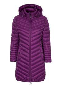 Cellbes Lekki płaszcz ciemnofioletowy female fioletowy 42/44. Kolor: fioletowy. Materiał: puch, polar, guma. Styl: elegancki