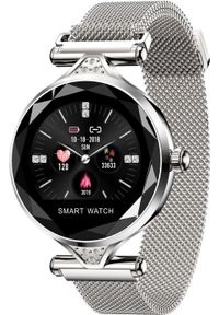 Srebrny zegarek Microwear smartwatch
