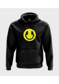 MegaKoszulki - Bluza z kapturem Smile & headphones. Typ kołnierza: kaptur