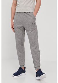 Nike - Spodnie. Okazja: na co dzień. Kolor: szary. Styl: casual
