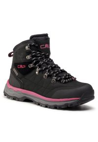 Czarne buty trekkingowe CMP trekkingowe, z cholewką