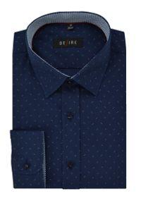 Niebieska elegancka koszula Desire z długim rękawem, długa