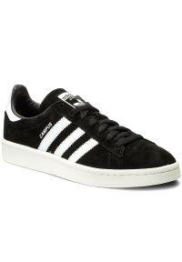 Czarne półbuty Adidas z cholewką, z paskami, w paski
