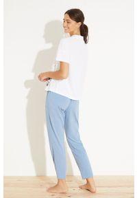 Women Secret - women´secret - Piżama. Kolor: niebieski. Materiał: dzianina. Długość: krótkie