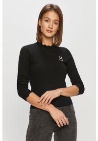 Czarny sweter Pinko klasyczny, długi