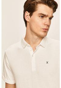 Biała koszulka polo Clean Cut Copenhagen na co dzień, krótka, casualowa