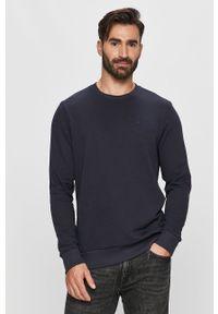Niebieska bluza nierozpinana Trussardi Jeans na co dzień, klasyczna