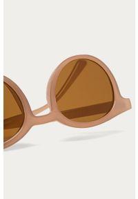 Brązowe okulary przeciwsłoneczne Vero Moda gładkie