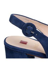 Niebieskie sandały HÖGL na średnim obcasie, na obcasie