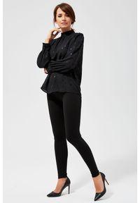 Czarna koszula MOODO długa, z długim rękawem