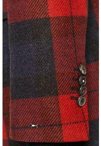 Wielokolorowy płaszcz TOMMY HILFIGER na co dzień, bez kaptura, klasyczny