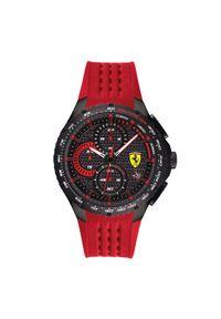 Czerwony zegarek Scuderia Ferrari