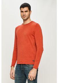 Only & Sons - Sweter. Kolor: czerwony. Materiał: dzianina. Wzór: gładki
