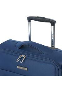 Wittchen - Walizka kabinowa miękka jednokolorowa. Kolor: niebieski. Materiał: poliester. Wzór: aplikacja