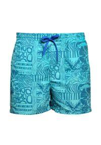 Zielone spodnie Just Yuppi w kwiaty, na lato, na plażę