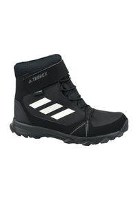 Czarne buty trekkingowe Adidas z cholewką, w kolorowe wzory, Adidas Terrex