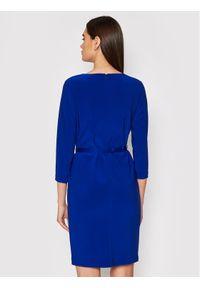 Lauren Ralph Lauren Sukienka koktajlowa 250825391001 Niebieski Slim Fit. Kolor: niebieski. Styl: wizytowy