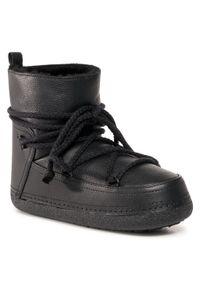 Czarne buty zimowe Inuikii na co dzień, casualowe, z cholewką