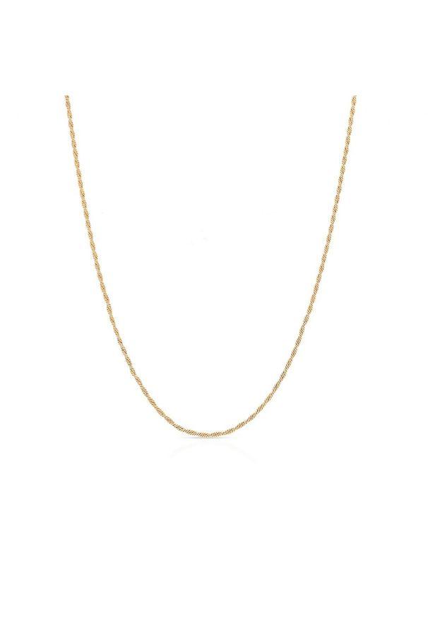 W.KRUK Piękny Srebrny Łańcuszek - srebro 925 - SCR/LS048Z. Materiał: srebrne. Kolor: srebrny. Wzór: ze splotem