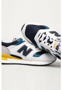 Białe sneakersy New Balance z cholewką, z okrągłym noskiem