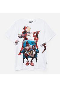 Biały t-shirt Cropp