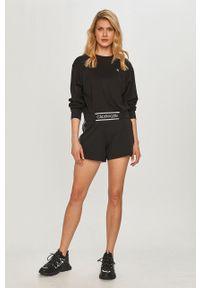 Czarne szorty Calvin Klein Performance z aplikacjami, sportowe, na co dzień
