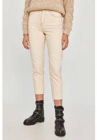 Beżowe jeansy loose fit Answear Lab z podwyższonym stanem, wakacyjne