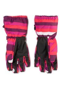 Różowa rękawiczka sportowa LEGO Wear narciarska