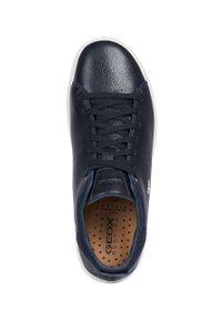Niebieskie sneakersy Geox z okrągłym noskiem, z cholewką