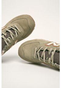 Brązowe sneakersy New Balance z okrągłym noskiem, na sznurówki